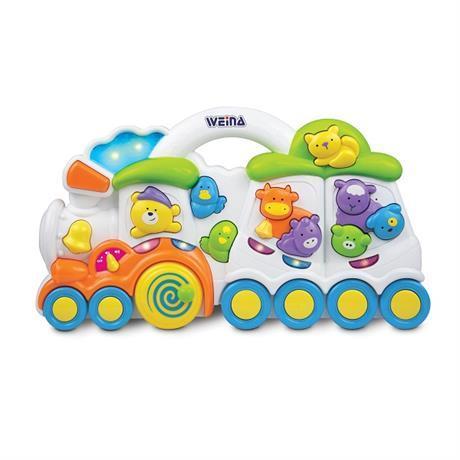 Музыкальная развивающая игрушка Паровозик с животными  Weina 2106