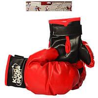 Боксерские перчатки M 2919 (48шт) 2шт, 25см, в кульке, 36-33-7см