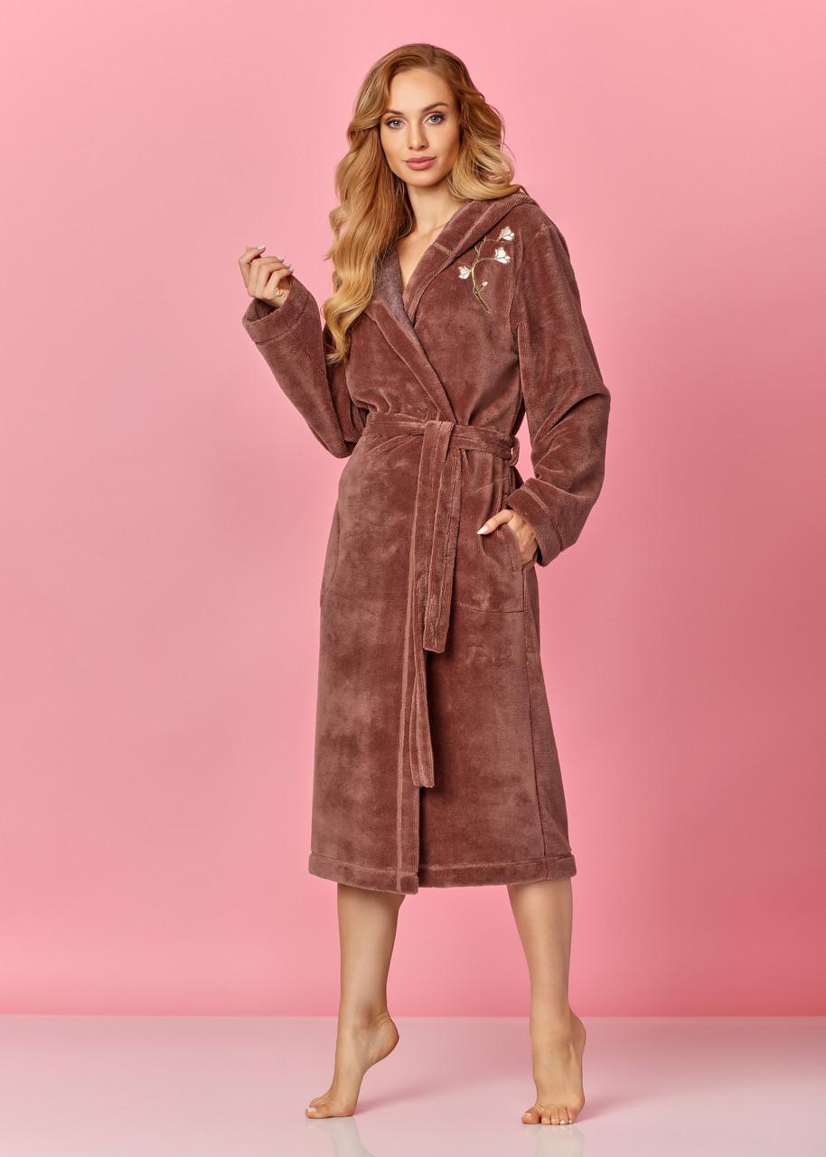 Жіночий натуральний халат L&L 8135