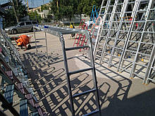 Bagliore 5х4 усилен. замок (без платформы) лестница трансформер до 5.8 метров