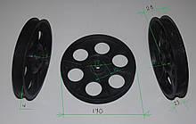 Шкив к бетономешалке Сталь (пластик упорный)