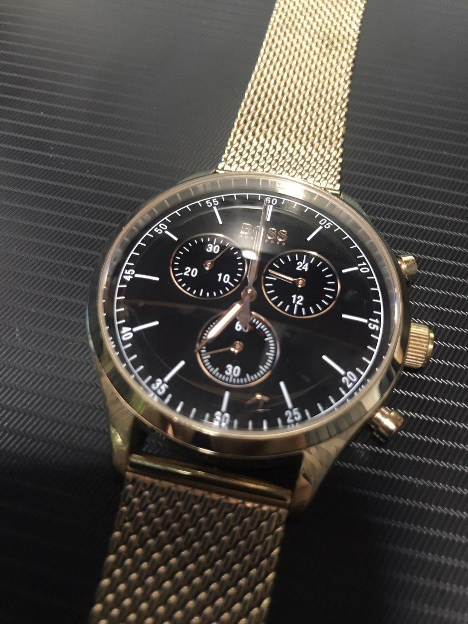 Кварцевые водонепроницаемые часы Hugo Boss Companion Chronograph Gents Mesh Watch 1513548