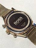 Кварцевые водонепроницаемые часы Hugo Boss Companion Chronograph Gents Mesh Watch 1513548, фото 3