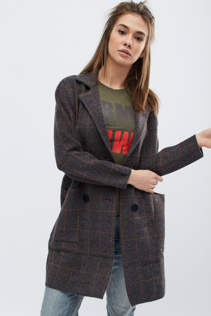 женское вязаное пальто 31018 4 серый 42 46 в категории пальто