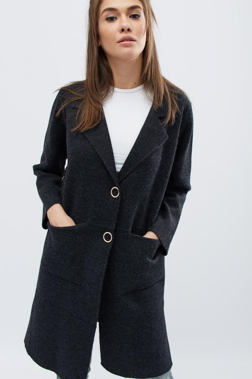 женское вязаное пальто 31012 29 графит 42 46 в категории пальто