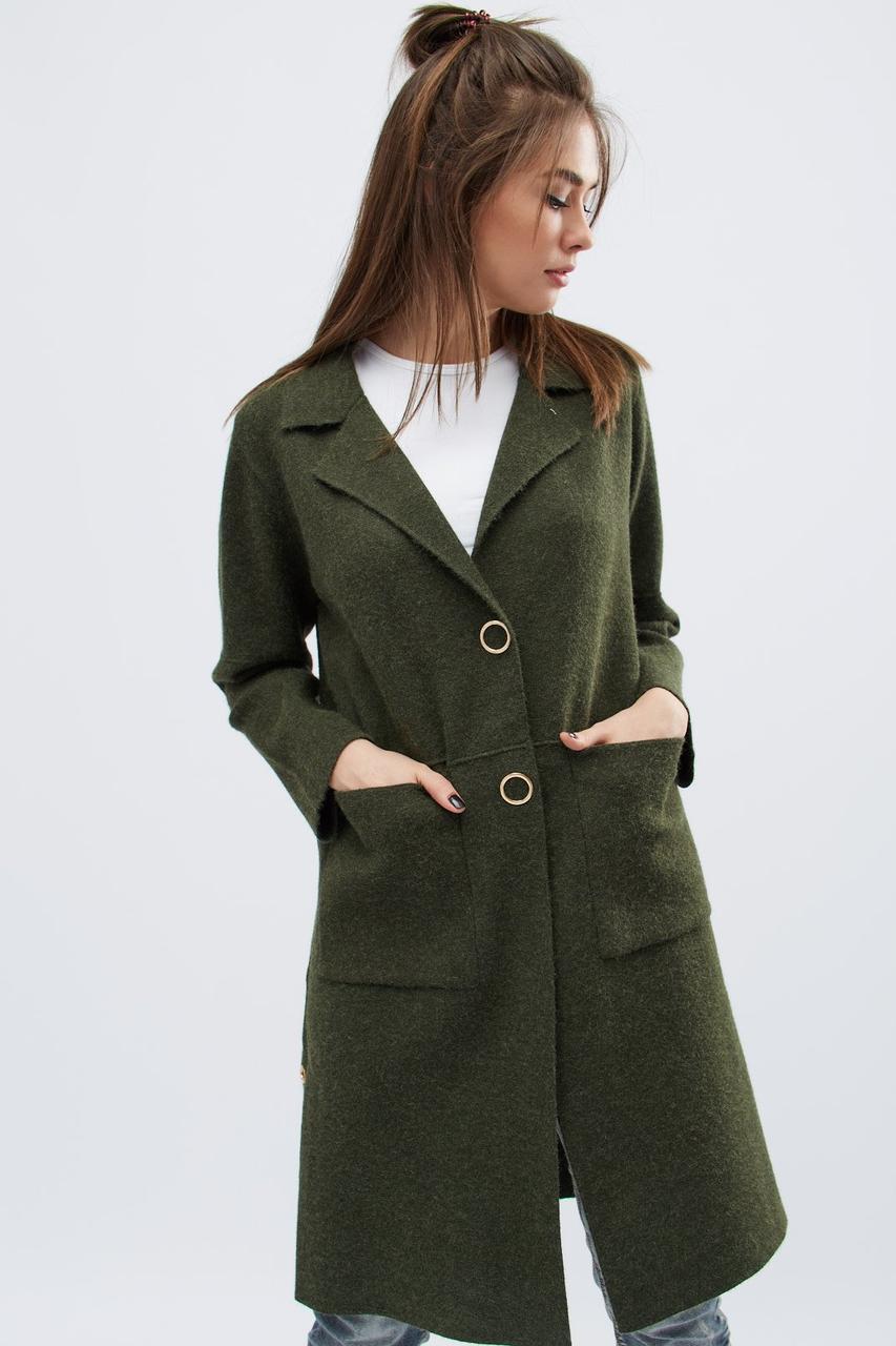 женское вязаное пальто 31012 30 изумруд 42 46 в категории пальто
