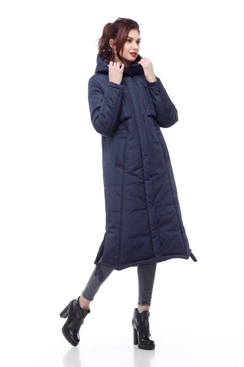 Модный длинный пуховик парка на большие морозы большие размеры  42- 54 хаки черный синий