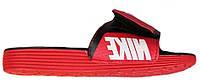 """Шлепанцы Nike Comfort """"Black/Red"""" - """"Черные Красные""""  (Копия ААА+)"""