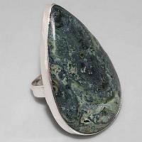 Серебряное кольцо с камбаба яшмойс