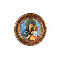 """Тарелка с иконой """"Божья матерь с младенцем"""" (20 см.)"""