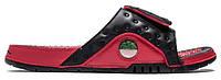 """Шлепанцы Air Jordan Hydro 13 """"Black/Red"""" - """"Черные Красные""""  (Копия ААА+)"""
