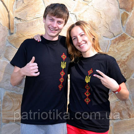 Вышитая футболка | Вишита футболка Тризуб, фото 2