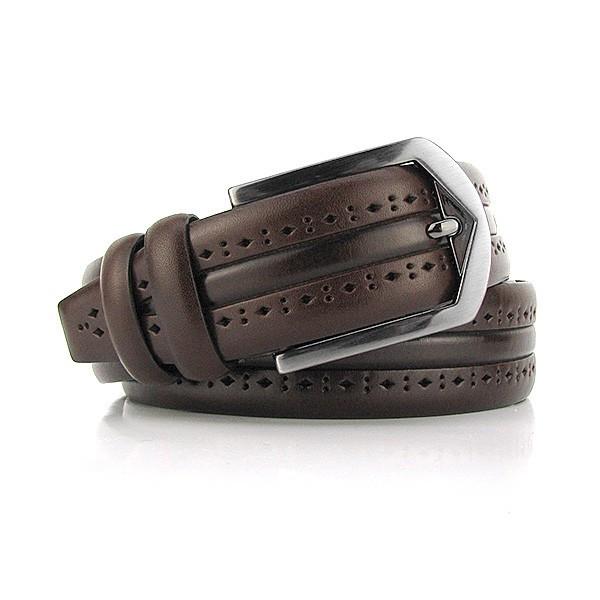 Ремень классический кожаный мужской под брюки Bond 1136 Турция
