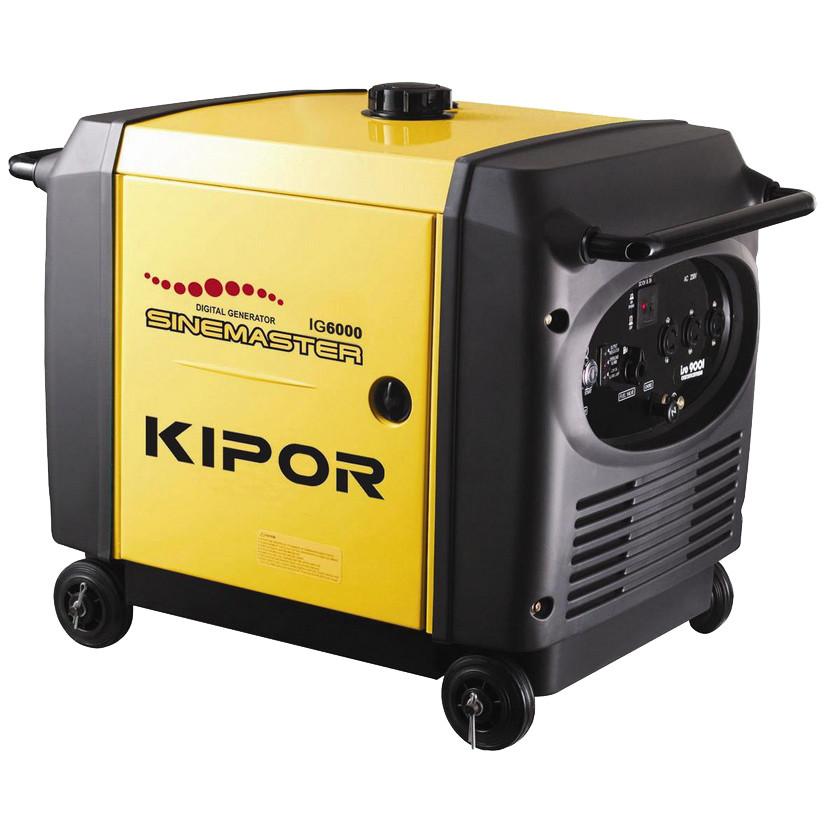 Генератор-инвертор Kipor IG6000 (5 кВт, электростартер, аккумулятор, колеса)