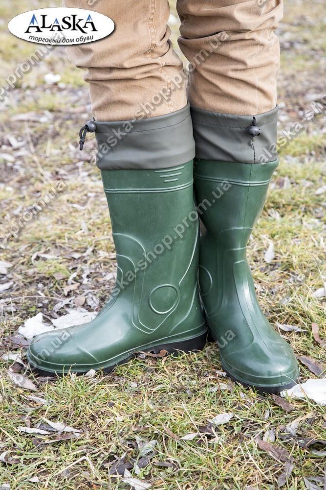 Мужские сапоги зеленые (Код: С-06 охотник)