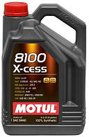 Моторное масло Motul 8100 X-cess 5W40 (5л) синтетика Мотюль ( BMW LL-01 , MB-Approval 229.5 , Renault RN0710 )