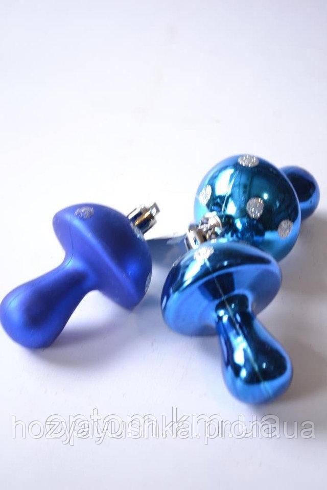 "Игрушки на ёлку ""грибочек"" (8048) 7 см"
