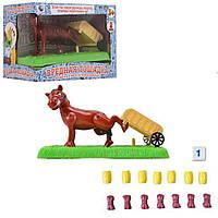 Настольная игра 707-83 Вредная лошадка, с тележкой. Игра дикий конь.
