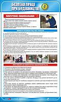 Стенд. Безпека праці при будівництві. Плиточник-лицювальник. 0,6х1,0. Пластик