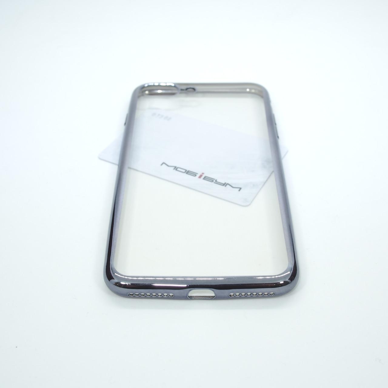 Чехол TPU bamper iPhone 7 Plus silver