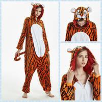 Пижама Кигуруми Тигр на молнии микрофибраразмер L на рост 165-175