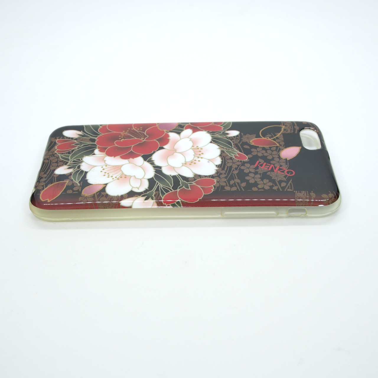Чехол TPU iMD Print Flowers iPhone 6 red Для телефона Apple