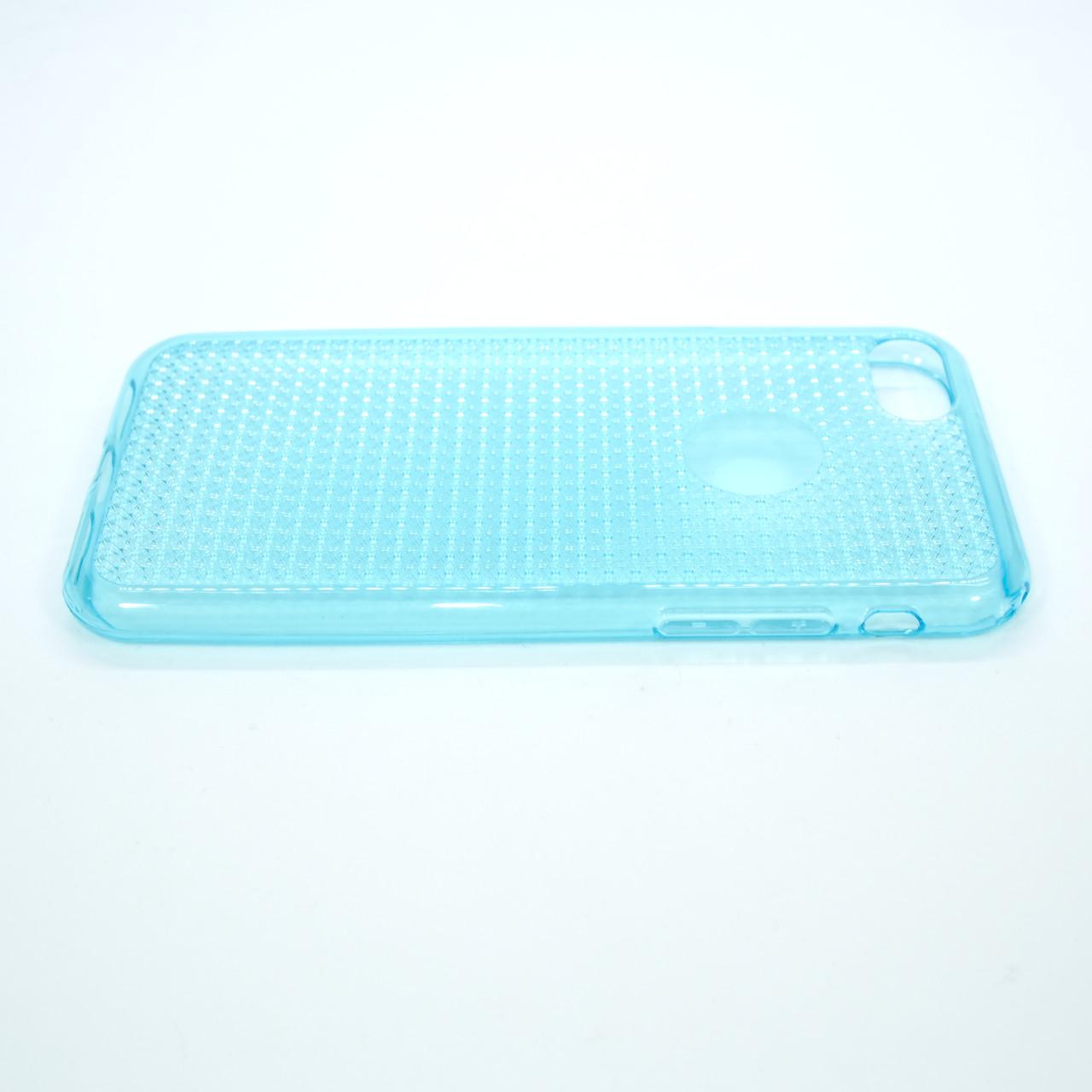 Чехол TPU Diamond Shine iPhone 8 7 blue Для телефона