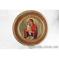 """Тарелка с иконой """"Почаевская Божья Матерь"""" (30 см.)"""