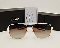 Мужские солнцезащитные очки Prada 0805 цвет коричневый