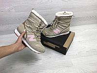 Женские зимние ботинки New Balance 6729 бежевый с розовым