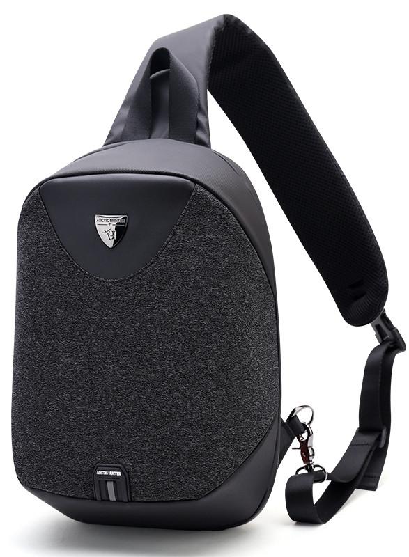 Стильный однолямочный рюкзак для бизнеса и путешествий Arctic Hunter XB00049, влагозащищённый, 8л