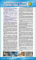 Стенд. Охорона праці на бетонних і залізобетонних заводах. 0,6х1,0. Пластик