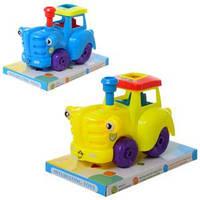 Трактор 225-1 (72шт) инер-й, 15см, 2 цвета, в слюде, 17,5-12,5-10,5см