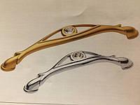 Ручка с камнями 96mm TASLI YAGMUR Матовое Золото