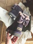 Натуральные женские угги Ugg Australia Mini Bailey Heart Violet с бантом. Живое фото. Люкс реплика, фото 5