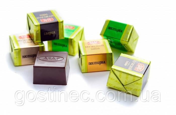 Шоколадні цукерки Чоловічий закон кондитерська фабрика Атаг