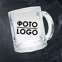 Кружка с фото/логотипом стеклянная