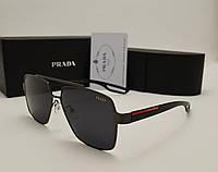 Мужские солнцезащитные очки Prada 0805 цвет черный