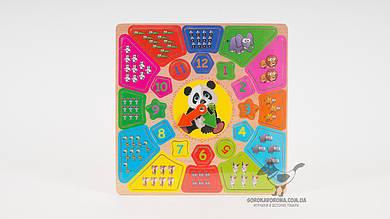 Деревянная игрушка- сортер в форме цветов. 2 вида (фрукты-ягоды или животные)