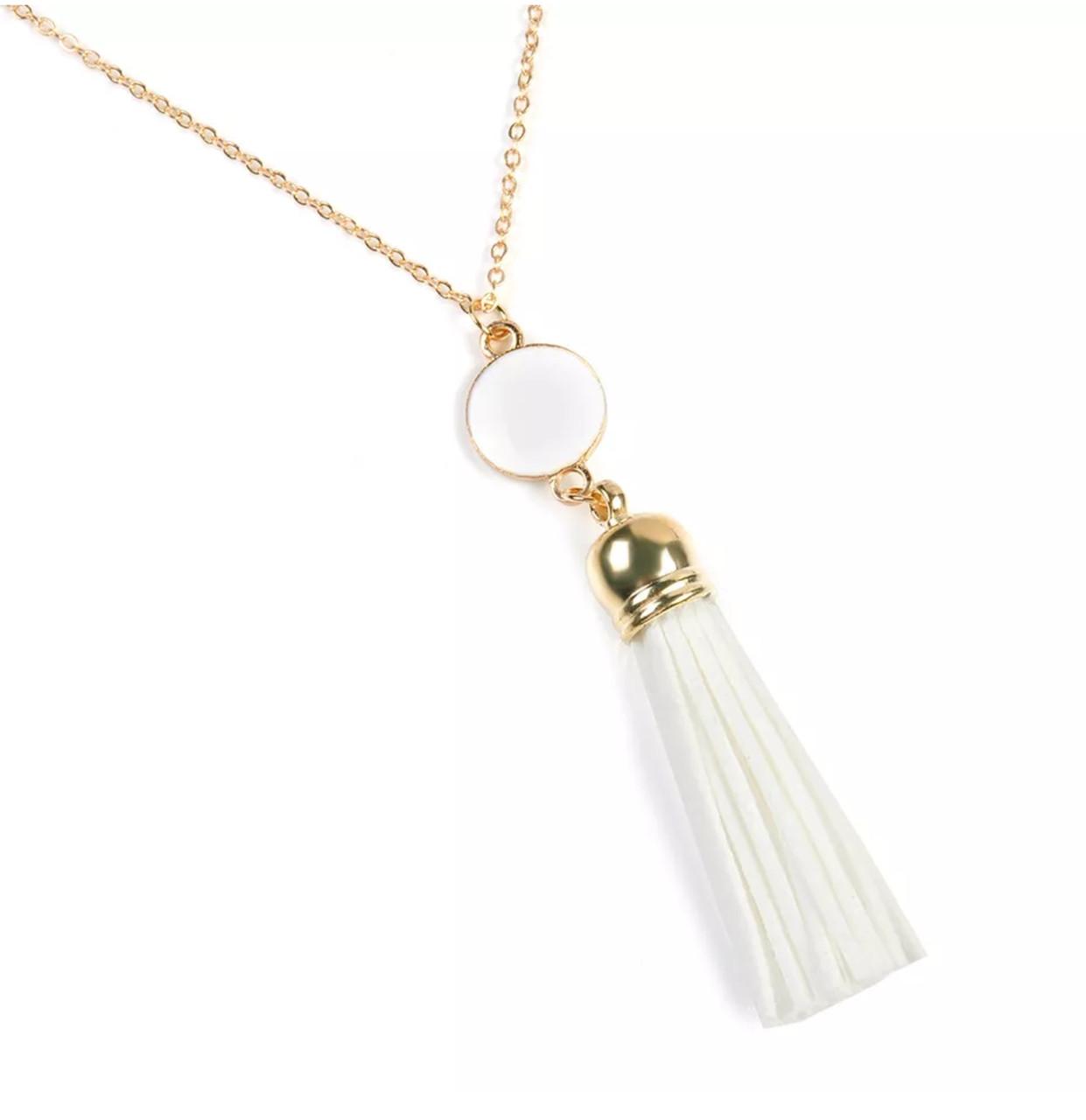 Модная женская подвеска кисть/украшение  на шею, бижутерия  «White styles» (белый)