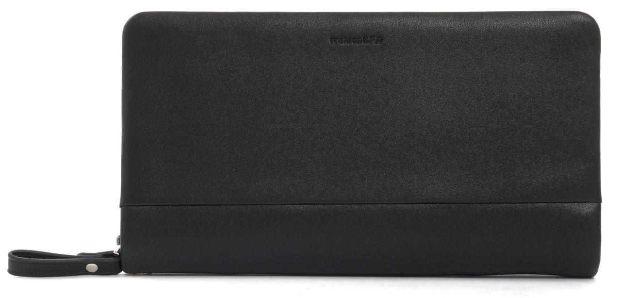 Мужской стильный классический портмоне барсетка с качественной PUкожиFUERDANNI art. 866 черный