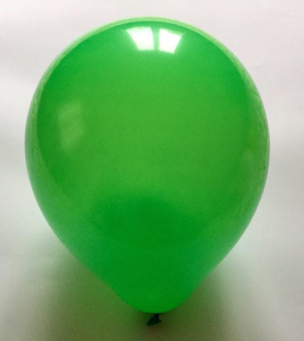 Латексный шар матовый зелёный 10″