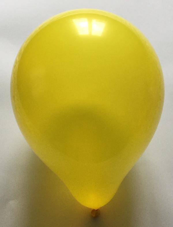 Латексный шар матовый жёлтый 10″