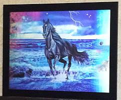 Картина трёхмерная с объёмным эффектом 3D Лошадки