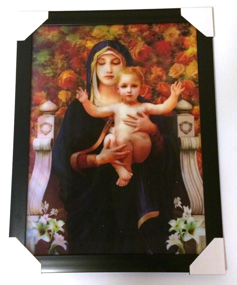 Картина трёхмерная Дева Мария с объёмным эффектом 3D