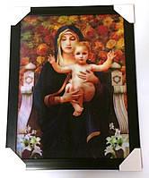 Картина трёхмерная Дева Мария с объёмным эффектом 3D, фото 1