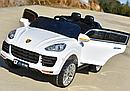 Детский электромобиль Джип M 3557 EBLR-1, Porsсhe, колеса EVA, кожаное сиденье, белый, фото 3