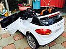 Детский электромобиль Джип M 3557 EBLR-1, Porsсhe, колеса EVA, кожаное сиденье, белый, фото 5