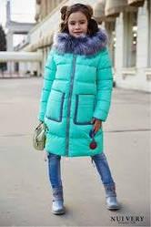 Десткое зимнее пальто на девочку, биопух,  28,30,32,36,38,40