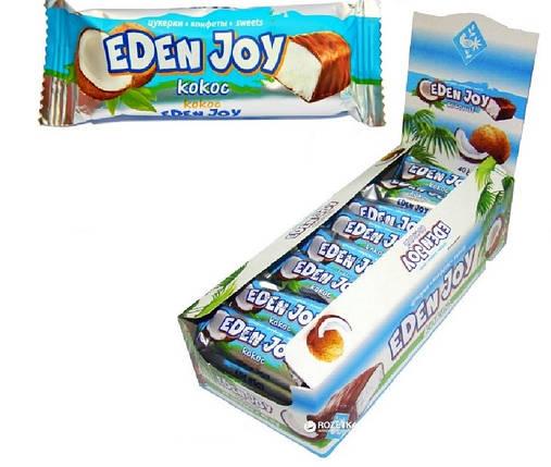 """""""ЖЛ"""" Батончик """"Eden Joy""""-кокос  глазуровані (24шт) шоубокс, фото 2"""